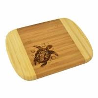 """6"""" x 8"""" Two Tone Turtle Wood Cutting Board"""