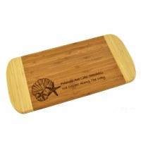 "6"" x 13"" Two Tone Seashells 'Friends'  Wood Cutting Board"