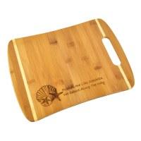 "9"" x 12"" Two Tone Seashells 'Friends'  Wood Cutting Board"