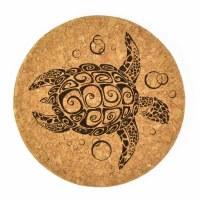 "4""  Brown Cork Turtle Coaster"