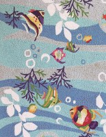 2 ft. 3 in. x 3 ft. 9 in. Blue Fish Sonesta Rug