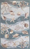 2 ft. 3 in. x 3 ft. 9 in. Blue Seafoam Shells Sonesta Rug