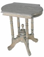 "23"" Rustic Driftwood Spindle Legged Side Table"