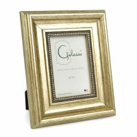 "3"" x 5"" Metallic Silver Beaded Photo Frame"