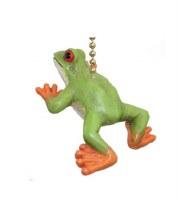 "2"" Green and Orange Treefrog Fan Pull"