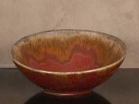 "11"" Rusty Ceramic Bowl"