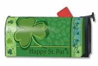 """7"""" x 19"""" Happy St. Pat's Green Shamrock Mailwrap"""