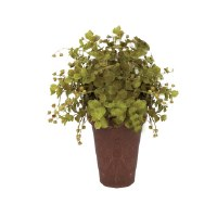 "10"" Large Potted Artificial Eucalyptus Bush"