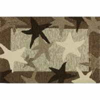 1 ft. 10 in. x 2 ft. 10 in. Brown and Beige Starfish Fields Rug