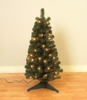 """24"""" Electric Light Up Faux Balsam Pine Tree"""