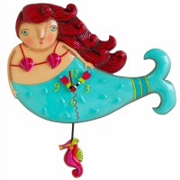 "14"" Blue Ruby the Mermaid Pendulum Clock"