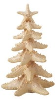 "8"" Pearlescent White Glitter Starfish Tree"