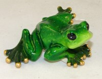 "2"" Green Frog Figurine"