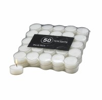 Pack of 50 Clear Tealight Candles