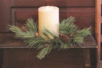 "6"" Faux Soft Northern Pine Candle Ring"