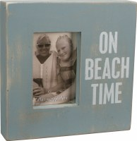 "10 x 10"" Blue On Beach Time Box Photo Frame"