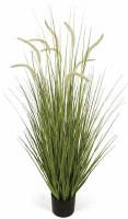 """48"""" Potted Two Tone Green Artificial Foxtail Grass"""