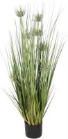 """42"""" Potted Green Artificial Sunny Flower Grass"""