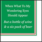 "5"" Square Wondering Eyes Paper Beverage Napkins"