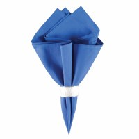 "18"" Square Blue Solid Cloth Napkin"