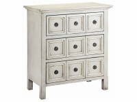 "31"" Gray & White 3 Drawer Chest"