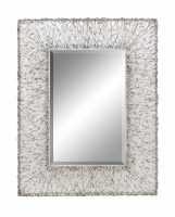"42"" x 32"" Silver Strands Mirror"