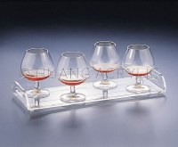"""16"""" x 6"""" Clear Acrylic Handled Serving Tray"""