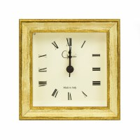 """4"""" Cream and Gold Tabletop Clock"""