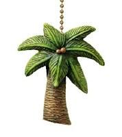 """2"""" Green Palm Tree Fan Pull"""
