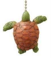 """2"""" Green Vertical Sea Turtle Fan Pull"""