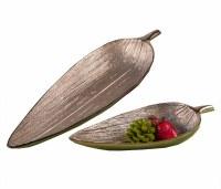 """11"""" Small Silver Bay Leaf Bowl"""