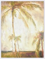 """40"""" x 30"""" Palms on White Giclee on Canvas Wrap"""