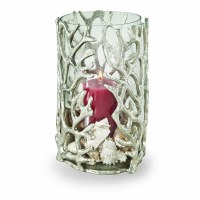 """12"""" Silver Coral Hurricane with Glass Insert"""