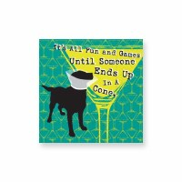 "5"" Square All Fun & Games Till Cone Beverage Napkins"