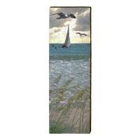 """60"""" x 10"""" Seagulls & Sailboat Plaque"""
