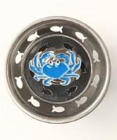 """3"""" Round Blue Enamel Crab Sink Strainer"""