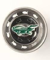 """3"""" Round Green Enamel Alligator Sink Strainer"""