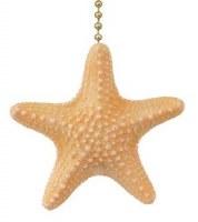 "2"" Light Orange Starfish Fan Pull"