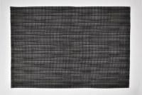"""12"""" x 18"""" Black Open Weave Placemat"""
