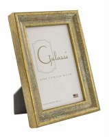 "3"" x 5"" Distressed Gold Finish Whitewashed Photo Frame"