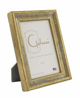 """4"""" x 6"""" Distressed Gold Finish and Whitewash Picture Frame"""