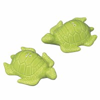 """4"""" Lime Green Turtle Salt and Pepper Shakers"""