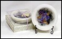"7"" Round Lilac Blossom Wax Bowl"