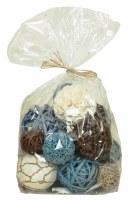 Bag of 18 Blue, Brown & White Orbs