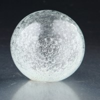 """4"""" Clear Bubble Glass Orb"""