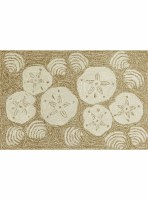 2 ft. 6 in. x 4 ft. Natural Sand Dollar Shell Rug