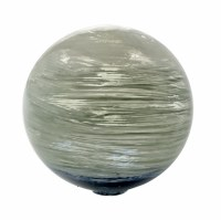 "4"" Round Ocean Blue and Green Painted Glass Orb"