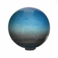 "5"" Blue Oceanside Blown Glass Orb"