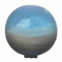 "3"" Blue Oceanside Blown Glass Orb"
