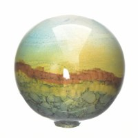 "3"" Blue and Green Jardin Glass Orb"